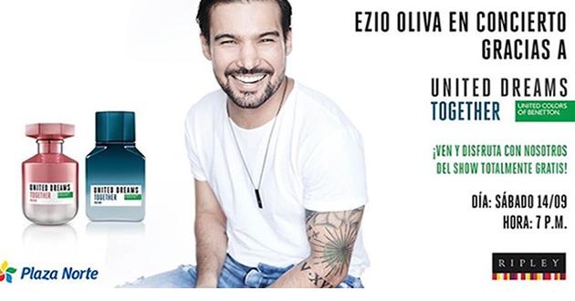 Benetton Perfumes presenta a Ezio Oliva en concierto gratuito