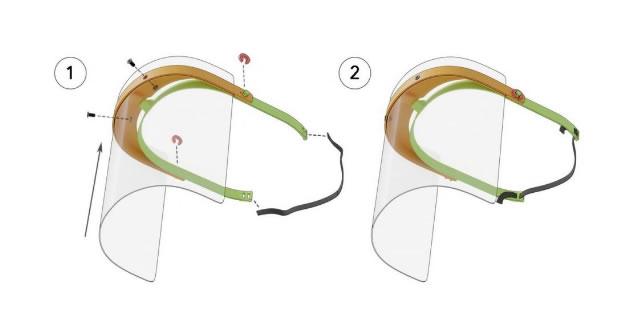 protectores faciales para quienes atienden a pacientes de coronavirus